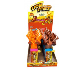 Funny Candy Lion Attack